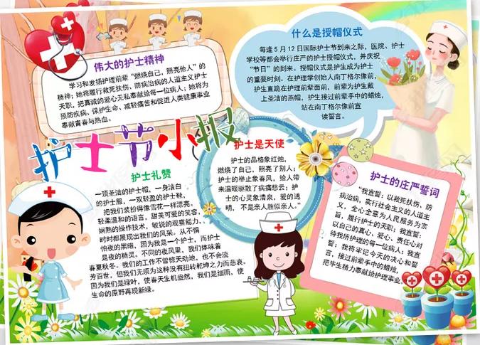 2020护士节快乐手抄报内容_南丁格尔的故事手抄报