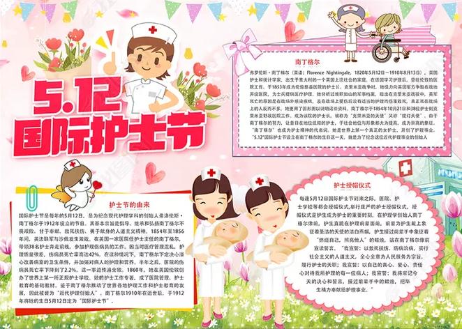 5.12护士节手抄报最新模板_微笑的天使手抄报