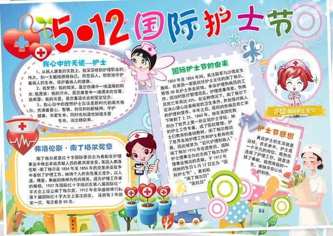 5.12国际护士节致敬抗疫英雄手抄报2020
