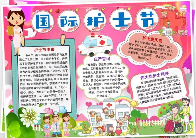 2020国际护士节手抄报_赞扬护士精神手抄报