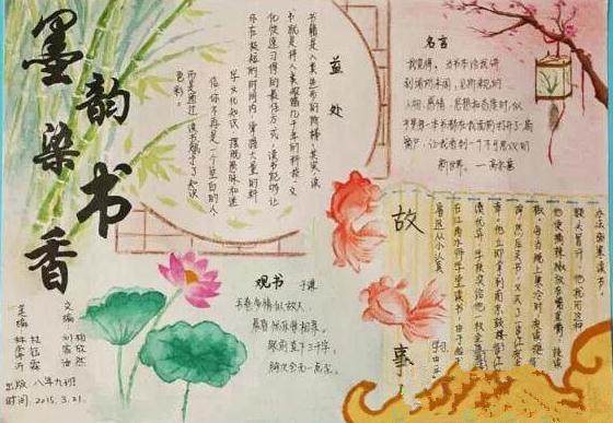 世界读书日手抄报初中简单模板
