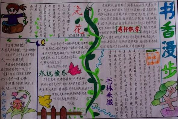 一年级我爱读书手抄报_简单的世界读书日手抄报