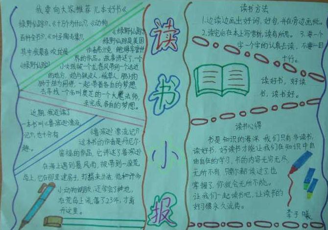 世界读书日手抄报图片素材