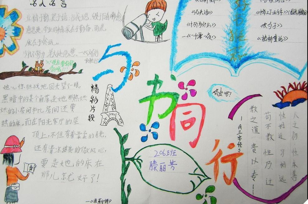 二年级世界读书日手抄报绘画简单