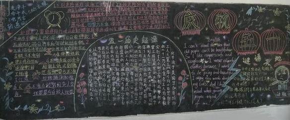 庆祝五一黑板报版面设计简单漂亮