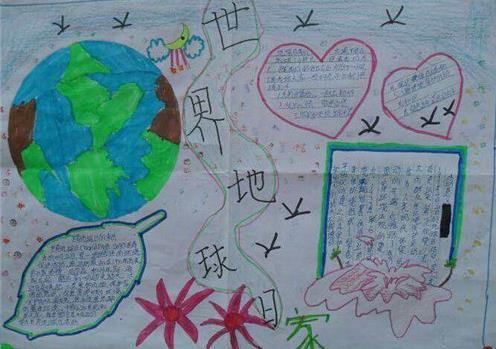世界地球日垃圾分类主题手抄报简单漂亮