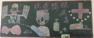 眾志成城抗擊疫情黑板報簡單漂亮