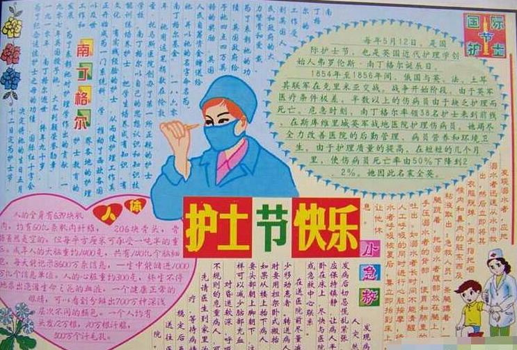 2020护士节防疫情手抄报内容_护士节快乐手抄报