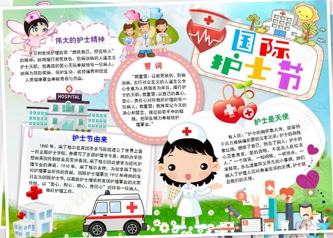 2020国际护士节抗击疫情主题手抄报内容