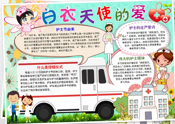 2020预防肺炎国际护士节手抄报素材