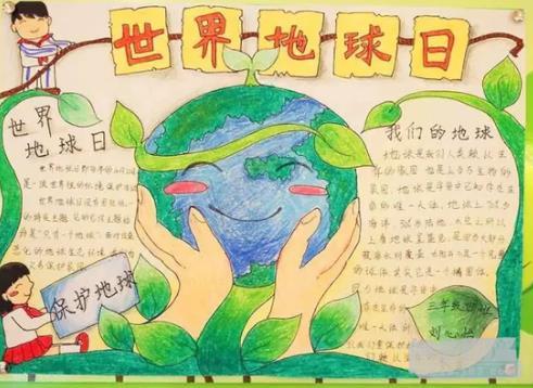世界地球日保护地球手抄报图片素材