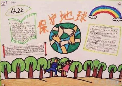 保护地球人人有责手抄报简单绘画