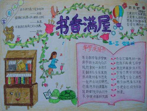 2020小学生世界读书日主题绘画手抄报素材