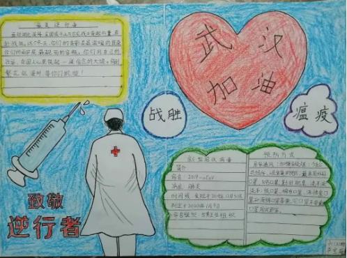 关于疫情的手抄报_抗疫手抄报简单又漂亮图片