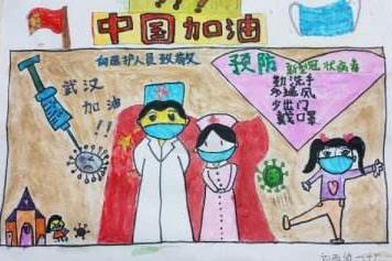新型冠状病毒手抄报简笔画_防疫手抄报简单漂亮