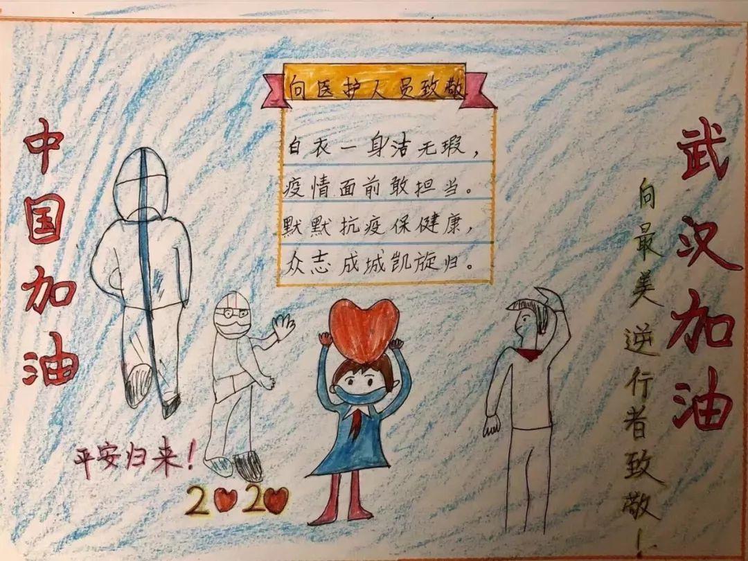 2020疫情手抄报内容文字_致敬逆行中的白衣天使手抄报