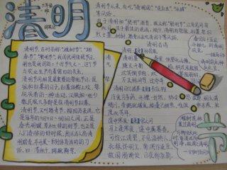 2020清明节小学生手抄报简单好看