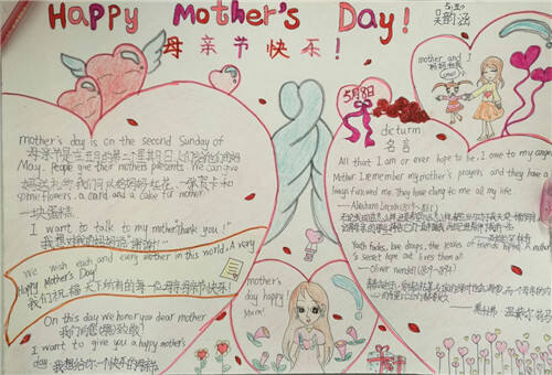 2020母親節感恩手抄報簡單又好看圖片