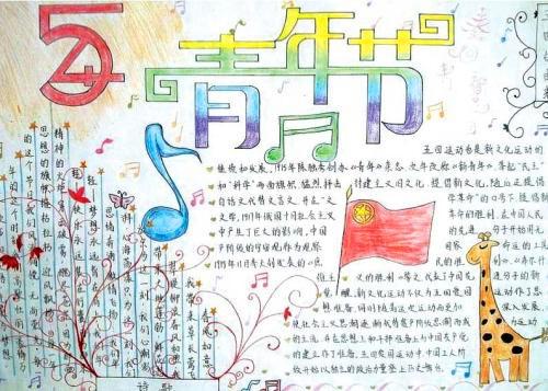 2020五四青年节绘画图片_五四青年节手抄报简笔画