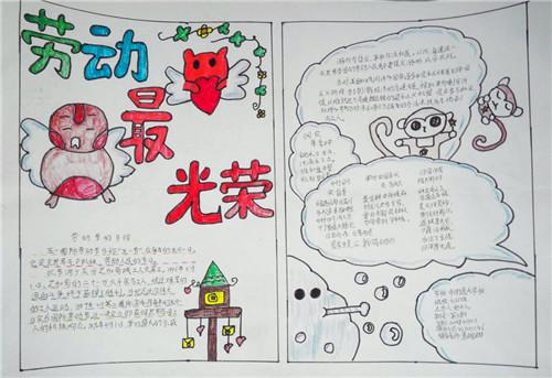 2020五一劳动节手抄报简单漂亮_劳动最光荣!