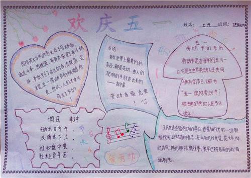 2020五一劳动节手抄报漂亮_劳动节手抄报简单好画