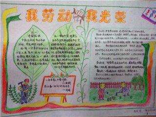 2020五一劳动节手抄报图片儿童绘画