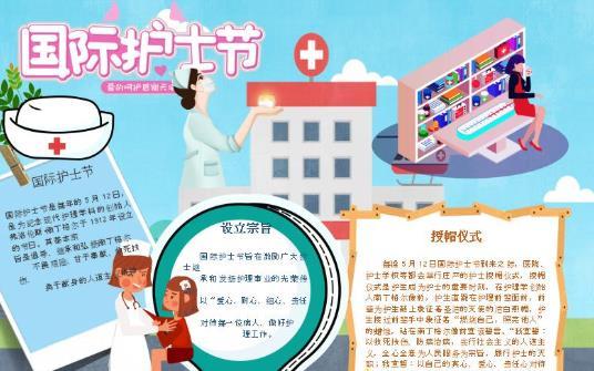 国际护士节手抄报简单又精美图片