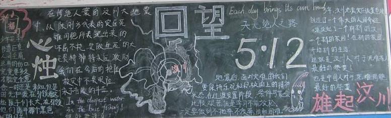 2020紀念512汶川地震12周年祭黑板報大全