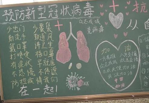 防疫有我愛衛同行黑板報簡單又漂亮