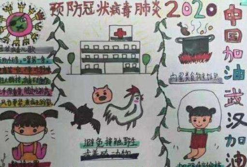 2020年新型冠状病毒小学生手抄报