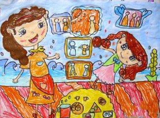 一年级母亲节简单的画_母亲节手