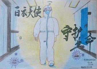 2020最新512护士节手抄报致敬逆行者绘画图片