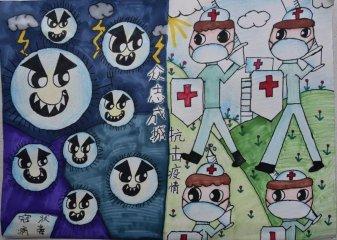 疫情下小学生护士节手抄报最好看的图片