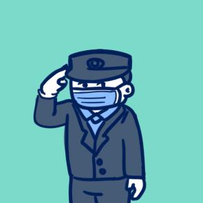 疫情前線的警察簡筆畫要怎么畫