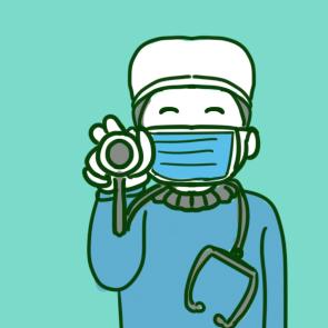 戴口罩的医生简笔画怎么画