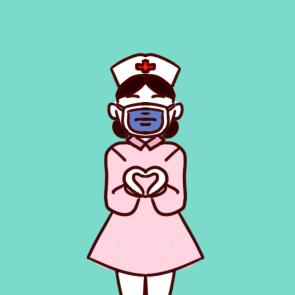 疫情前线可爱的护士简笔画原创教程步骤