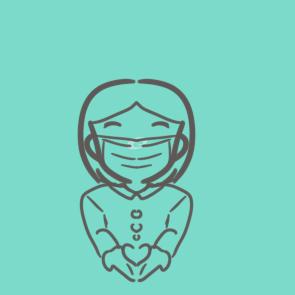 献爱心的女孩简笔画原创教程步骤 5068儿童网