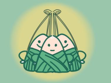 端午节的粽子上色简笔画图片教程