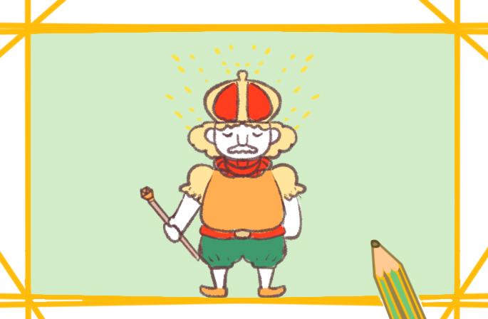 和蔼的国王简笔画图片要怎么画