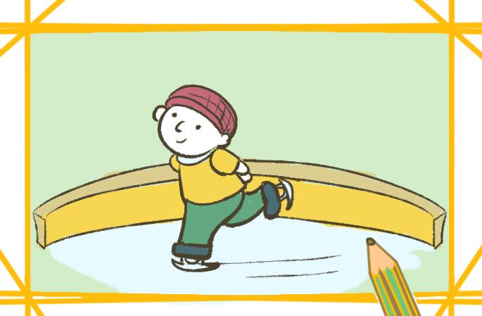 滑冰的男孩简笔画图片要怎么画