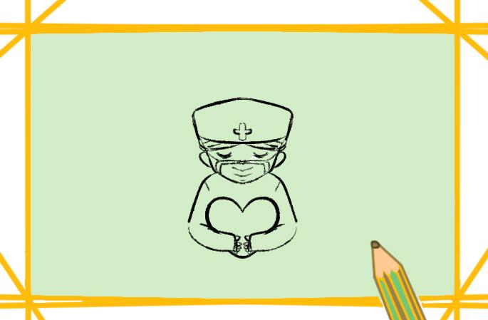 美丽善良的护士小学生简笔画要怎么画
