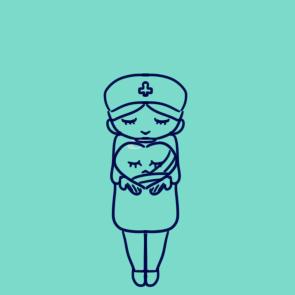 善良的护士简笔画原创教程步骤 5068儿童网