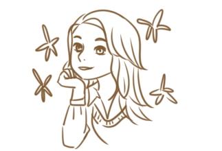 漂亮的動漫女生簡筆畫要怎么畫