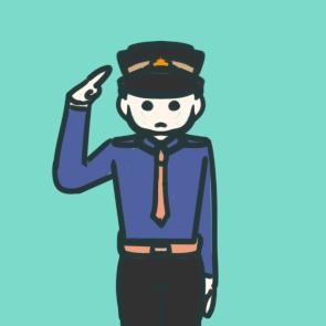 帅气的警察简笔画怎么画