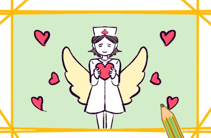 漂亮温柔的护士简笔画要怎么画