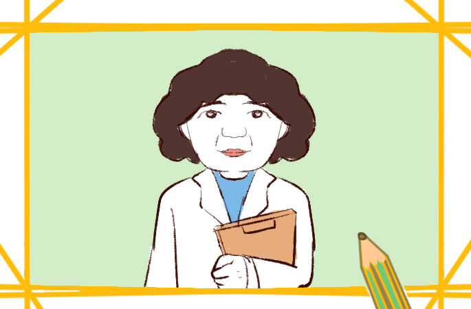 可爱的医生奶奶简笔画要怎么画