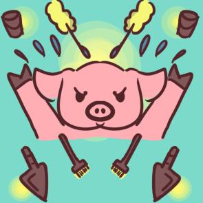奋斗的小猪简笔画要怎么画