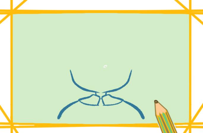 有活力的眼镜男小学生简笔画要怎么画