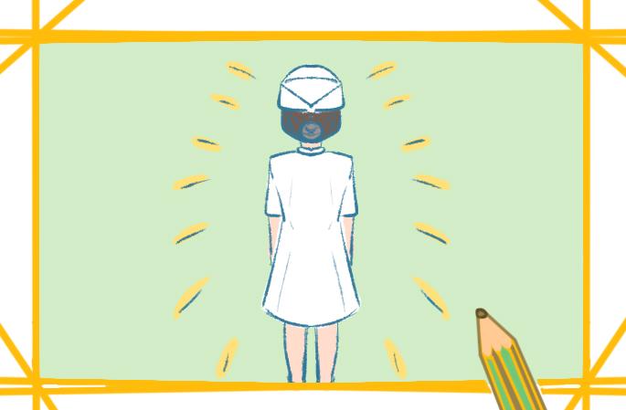 护士的背影简笔画图片要怎么画