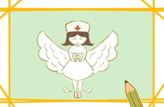甜美的护士小学生简笔画要怎么画